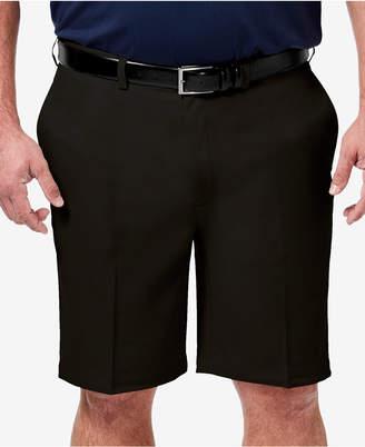 "Haggar Men Big & Tall Cool 18 Pro Classic-Fit Stretch Flat-Front 9.5"" Shorts"