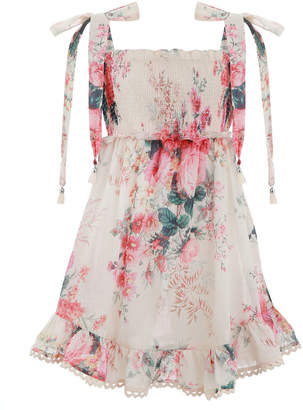Zimmermann Laelia Shirred Short Dress