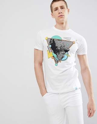 Soul Star Abstract Face Print T-Shirt