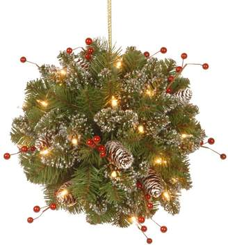 Three Posts Spruce Kissing Ball with 35 Battery Operated LED Lights