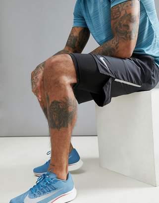 Nike Running Flex Distance 7 Inch 2-In-1 Shorts In Black 892905-010