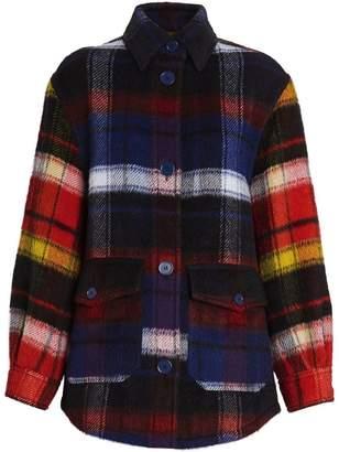 Burberry Check Alpaca Wool Jacket