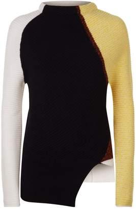 Sportmax Graphic Patchwork Cashmere Sweater