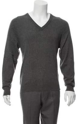 Saint Laurent Cashmere V-Neck Sweater grey Cashmere V-Neck Sweater