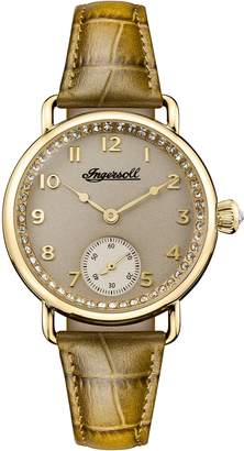 Ingersoll Men's Automatic Stainless Steel and Leather Casual Watch, Color:Green (Model: I03603)