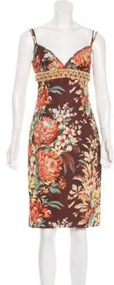 Dolce & Gabbana Embellished Linen Dress