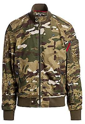 G Star Men's Camouflage Bomber Jacket