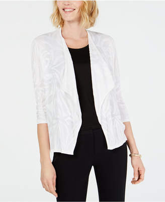 JM Collection Open Textured Flyaway Cardigan, Created for Macy's