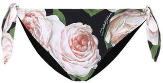 Dolce & Gabbana Floral-printed bikini bottoms