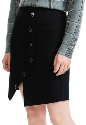 Maje Jipa Button-Front Skirt