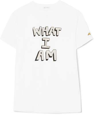 Bella Freud Printed Cotton-jersey T-shirt - White