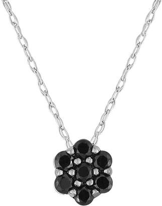 Black Diamond FINE JEWELRY diamond blossom 1/5 CT. T.W. Color-Enhanced Pendant Necklace