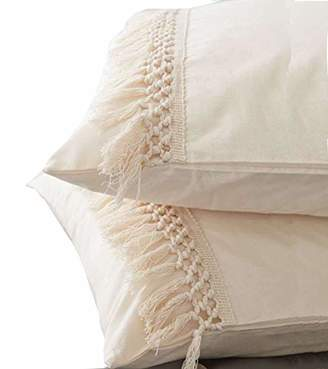 Tassel Sham Set Cotton Pillow Covers
