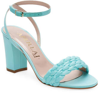 961193a499d Aperlaï Braided Open-Toe High Heel Sandal