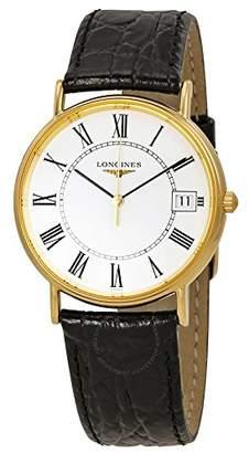 Longines Men's 34.5mm Leather Band Steel Case Swiss Quartz Watch L48192112