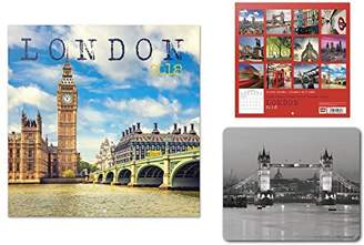 Westminster 1art1® Set: London, Big Ben, Palace, Official Calendar 2018 (12x12 inches) and 1x Mouse Pad (9x7 inches)