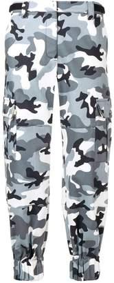 Miu Miu camouflage tapered trousers