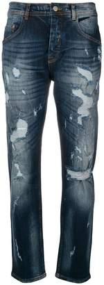 Iceberg distressed straight jeans