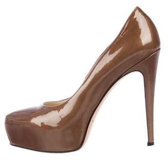 Brian Atwood High-Heel Patent Leather Pumps brown High-Heel Patent Leather Pumps