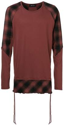 Andrea Ya'aqov checked long sleeve top