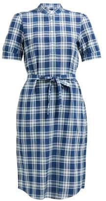 A.P.C. Clea Checked Shirtdress - Womens - Blue
