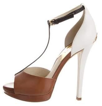 Michael Kors Breanna T-Strap Sandal Brown Breanna T-Strap Sandal