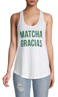 Matcha Gracias Cotton Tank Top