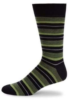 Saks Fifth Avenue Stripe Crew Socks