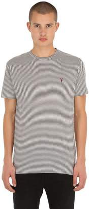 AllSaints Point Crew Striped Cotton Jersey T-Shirt