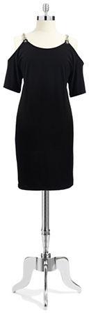 MICHAEL Michael Kors Short Sleeved Shift Dress with Shoulder Cutouts