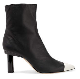 Tibi Grant Two-tone Leather Ankle Boots - Black
