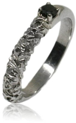 Black Diamond Karolina Bik Jewellery Rock Ring In White Gold With
