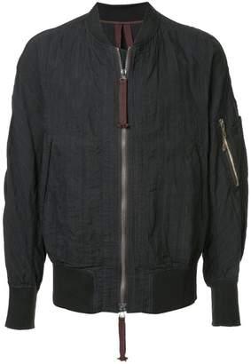 Ziggy Chen striped bomber jacket
