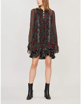 The Kooples Heart-patterned crepe dress