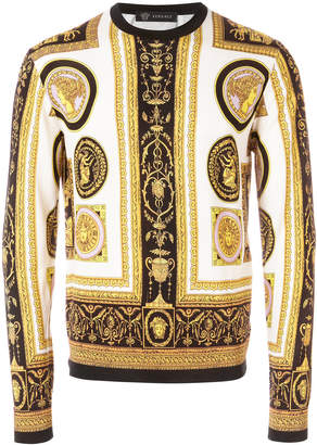 Versace baroque print jumper
