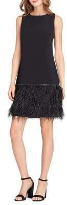 Tahari Arthur S. Levine Petite Petite Feather-Hem A-Line Dress
