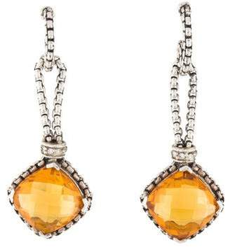 David Yurman Citrine & Diamond Drop Earrings