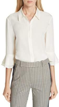 Tory Burch Arianne Ruffle Cuff Silk Shirt