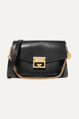 Givenchy Gv3 Small Textured-leather And Suede Shoulder Bag - Black