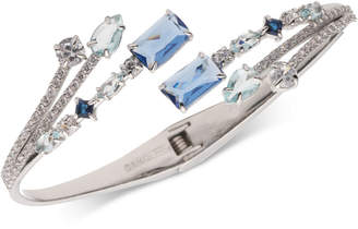 Carolee Silver-Tone Multi-Crystal Bypass Bracelet