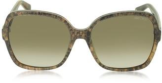 cf2dbddb456 Jimmy Choo LORI S 6UJDB Oversize Python Print Acetate Women s Sunglasses