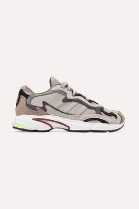 adidas Temper Run Mesh, Suede And Leather Sneakers