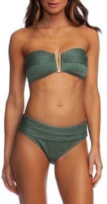 Kenneth Cole Reaction Luxury Rib Bandeau Bikini Top