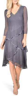 Komarov Tiered Hem Dress