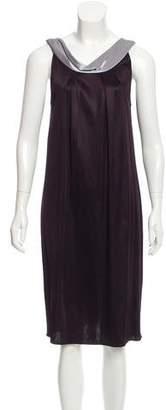 Alberta Ferretti Pleated Midi Dress