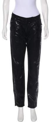Pierre Balmain Coated Mid-Rise Jeans