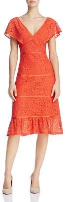 nanette Nanette Lepore Flutter-Sleeve Lace Dress $169 thestylecure.com