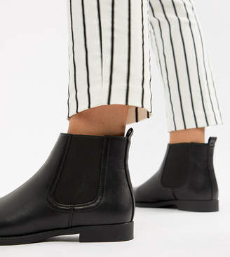 Park Lane Wide Fit Flat Chelsea Boots