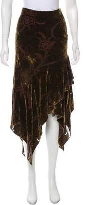Ralph Lauren Black Label Velvet Maxi Skirt