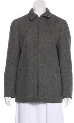 Prada Wool Zip-Up Coat
